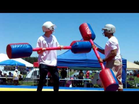 Giant Q-Tip Fight