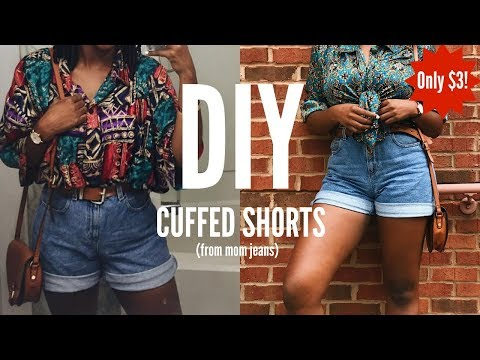 41d88d5240 DIY | HOW TO MAKE 90s HIGH WAISTED CUFFED SHORTS FROM MOM JEANS | SUPER  EASY TUTORIAL KIITANA - YouTube