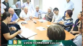 FLASH 05 08 14 Lucio Schereiner concejal acuerdo en barrio santa rosa