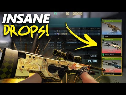 TOP 10 BEST OPERATION HYDRA DROPS! - LUCKIEST DRAGON LORE & MEDUSA DROPS! + Funny Reactions!