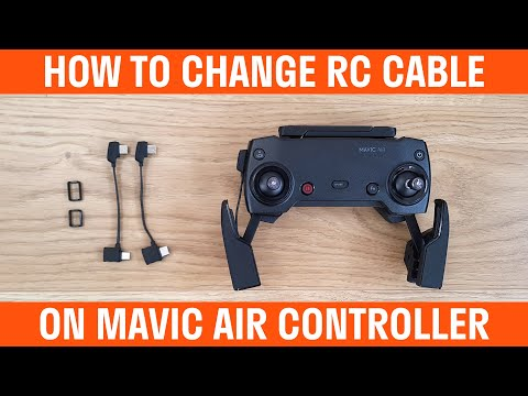 How To Change RC Cable On Mavic Air Controller