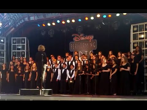 """Disneyland: """"Bridge Over Troubled Water""""- Archbishop Mitty Choir 2016"""