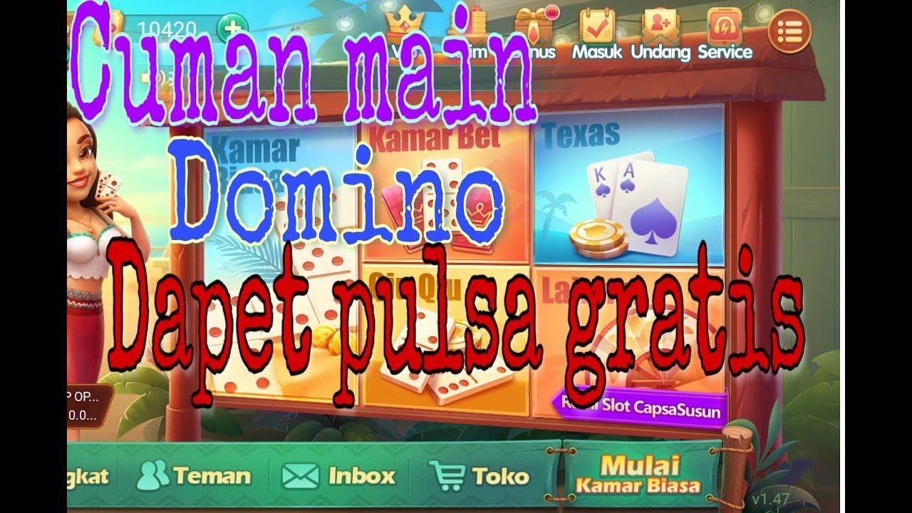 Domino online bisa dapet pulsa gratis BOSS - YouTube