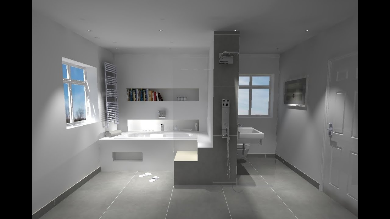 3d bathroom design youtube for Design your bathroom 3d