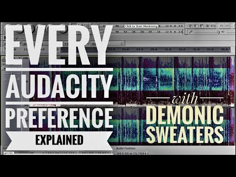 Every Audacity Preference Explained 2017