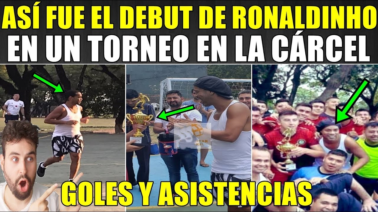 ASÍ FUE EL DEBUT DE RONALDINHO EN UN TORNEO EN LA CÁRCEL (GOLES Y ASISTENCIAS)