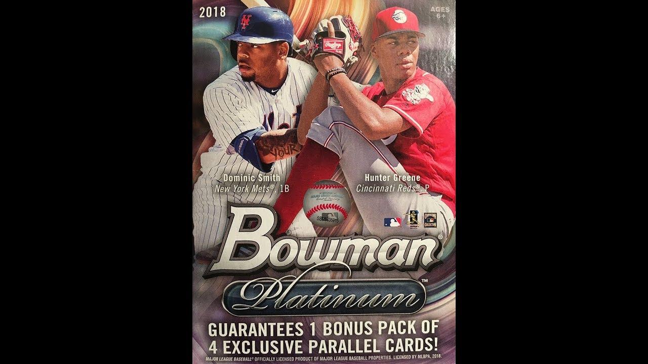 2018 Bowman Platinum Baseball Blaster Box Value Pack Break 10 Hit