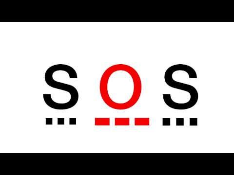 Sos morse code with flashlight
