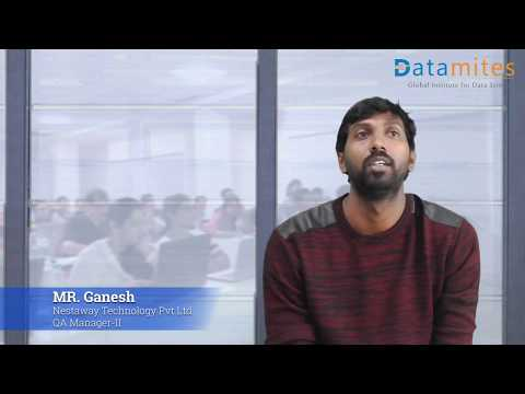 Mr  Ganesh Feedback on Data Science Classroom Training in Bangalore