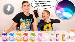 SIRI CONTRÔLE NOTRE SLIME - SIRI Picks Our Slime Ingredients Challenge !!!