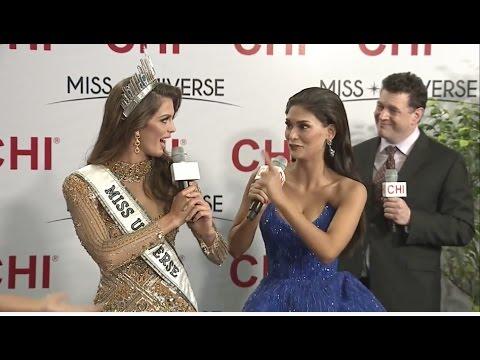Miss Universe 2016 - Miss France & Pia Wurtzbach - LIVE INTERVIEW - 65th Miss Universe (HD)