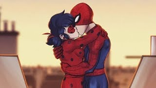 MIRACULOUS LADYBUG & SPIDERMAN KISS!?! - Comic Dub Animations