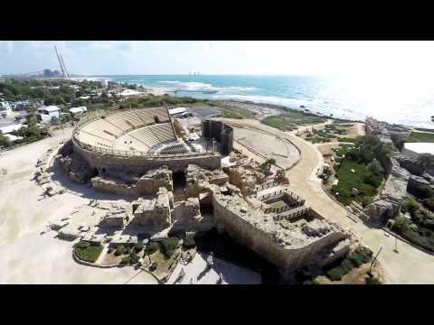 נמל קיסריה , CAESAREA HARBOR-Beautiful Landscape in Israel