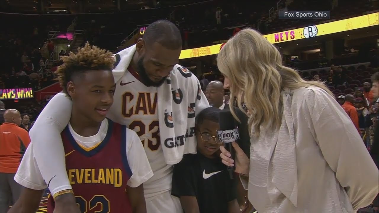 huge selection of 4ee1d 30f65 LeBron James' sons grade his performance in Cavaliers' OT win vs. Clippers  | ESPN