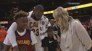 LeBron James' sons grade his performance in Cavaliers' OT win vs. Clippers | ESPN