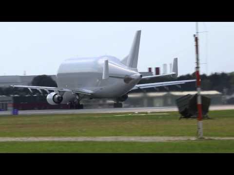 Airbus A300 Beluga beim Start (Manching/Ingolstadt)