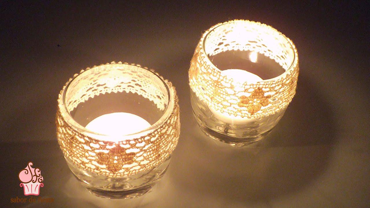 centros de mesa con velas