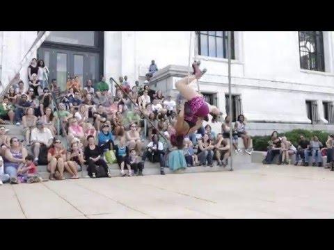 Baltimore Artscape 2012 - Nina Charity - Trapeze and Skates