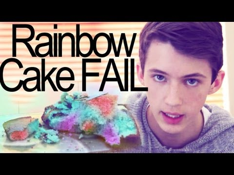 EPIC RAINBOW CAKE 3 LAYER FAIL Travel Video