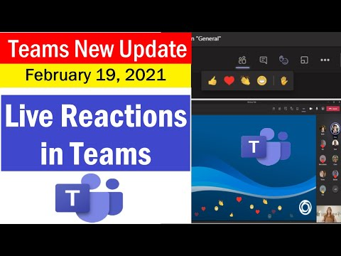 Live Reactions in Microsoft Teams | New Features in Microsoft Teams for 2021 | #MicrosoftTeams