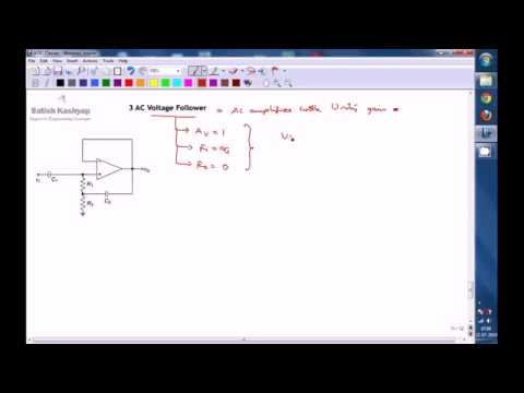 AC amplifier (Invering and Non-inverting mode) and AC Buffer using OP-AMP - A Conceptual Lecture