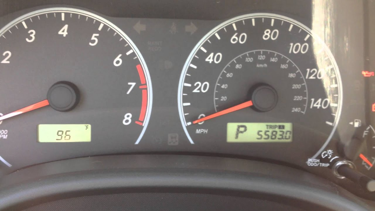 Reset Oil Maintenance Light 2009 To 2013 Toyota Corolla