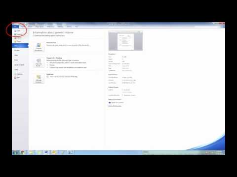 Saving a document as a PDF (Portable Document Format)