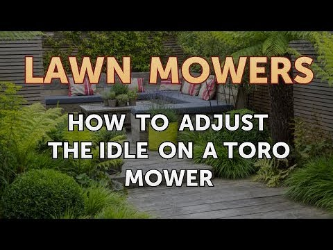 How to Adjust the Idle on a Toro Mower