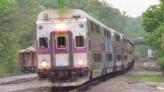 MBTA Extra and CSX B731 in Walpole MA