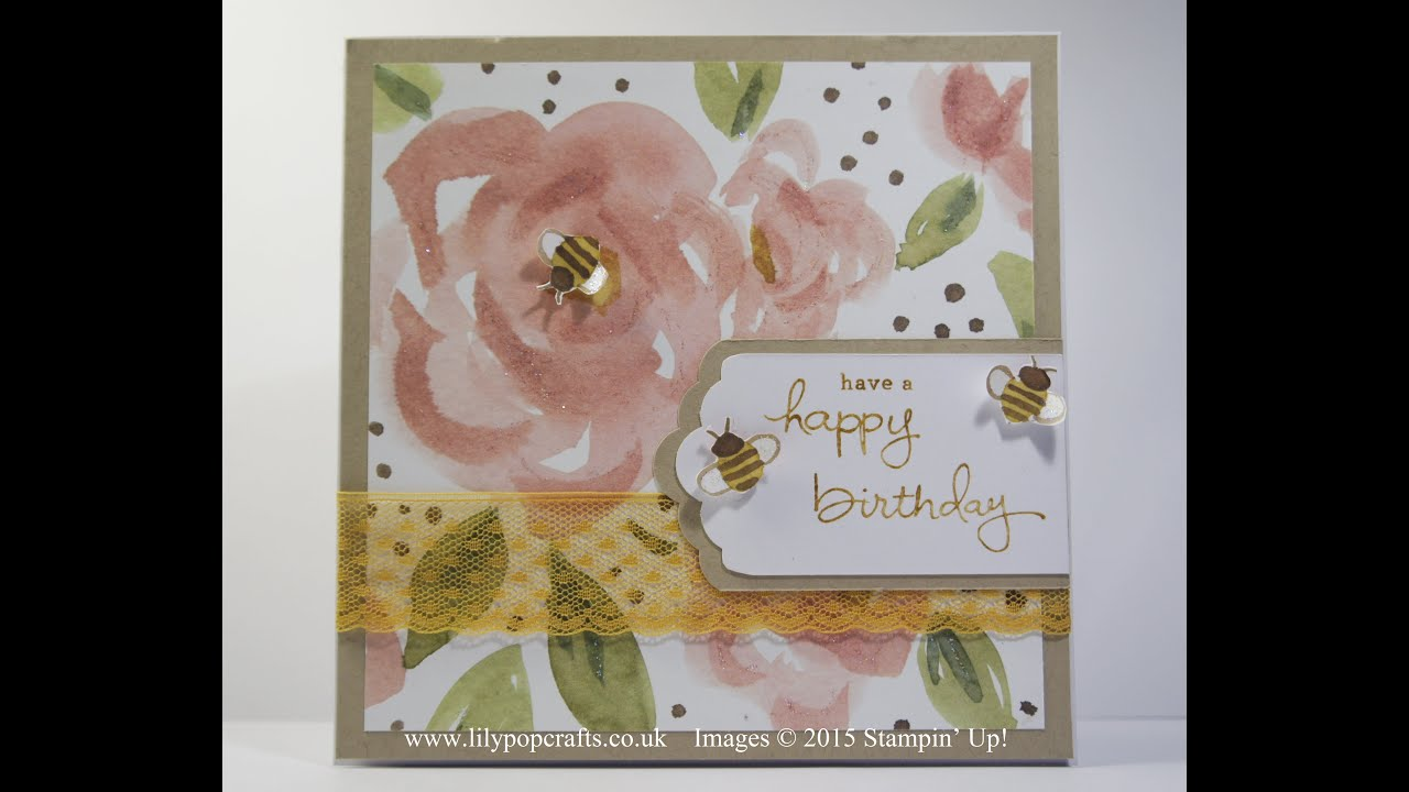 handmade birthday card using english garden  endless birthday, Birthday card
