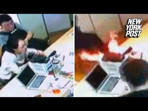 iPhone battery explodes in the middle of a store   New York Post