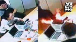 IPhone Battery Explodes in The Middle of a Store | New York Post