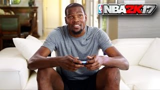 kevin durant plays nba 2k17 against russell westbrook parody durant vs westbrook mypark gameplay