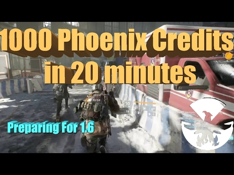 Division  Fastest way to gain Phoenix Credits and Exotic Gear