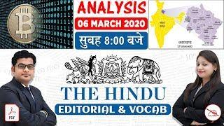 The Hindu Editorial Analysis | By Ankit Mahendras & Yashi Mahendras | 6 March 2020 | 8:00 AM