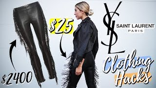 Saint Laurent CLOTHING HACKS!! $2400 YSL Pants For $25 !! How To Make DESIGNER CLOTHES For CHEAP