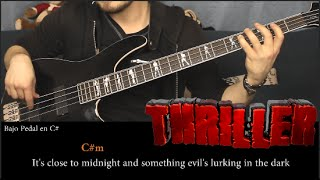 Michael Jackson - Thriller Tutorial Bajo | Bass Tutorial (HD)