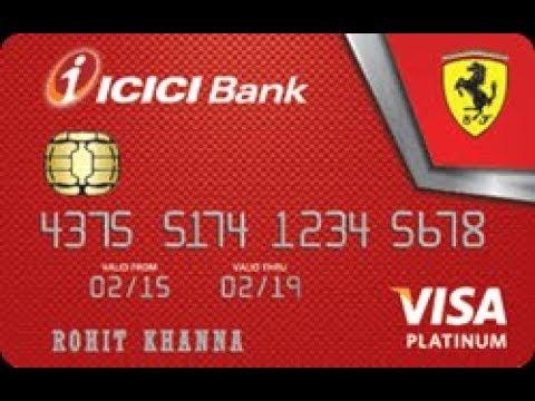 Ferrari platinum credit card ICICI Bank  - Eligibilty, information (hindi)