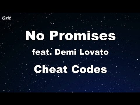 No Promises ft. Demi Lovato - Cheat Codes Karaoke 【With Guide Melody】 Instrumental