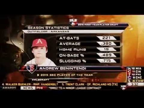 Boston Red Sox draft Andrew Benintendi in The 1st Round of The 2015 MLB Draft