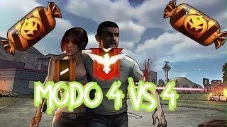 FreeFire   Heroico jugando Modo 4 VS 4