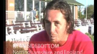 Ryan Sidebottom plays for Leek Cricket Club