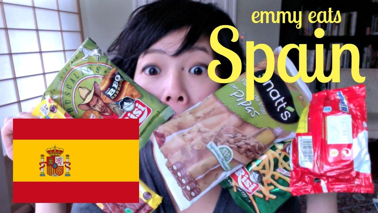 Emmy Eats Spain - tasting Spanish snacks & sweets - YouTube