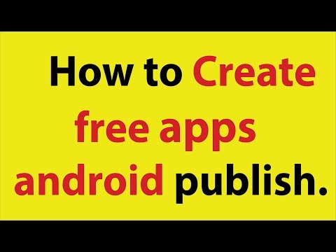 How To Create Free Apps And Publish Android Market