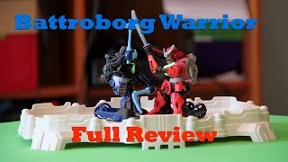 Battroborg Warrior Battle Arena Set Review.  Battling Robots Get Weapons