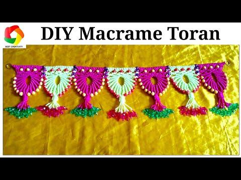 Easy Macrame Toran Door Hanging tutorial