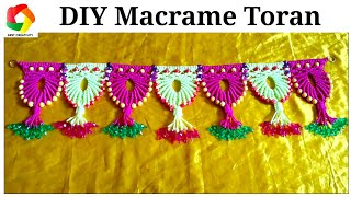 Easy Macrame Toran Door Hanging tutorial