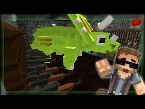 Minecraft Dinosaurs #19 - TRICERATOPS IN THE ARMORY? (Jurassic World Minecraft Roleplay)