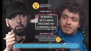 Fans Slam Hip-hop Media As Eminem Sets Record With Curtain Call, Jack Harlow Teases Em/Drake Collab