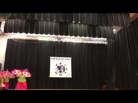 Korean Fan dance at Shorewood elementary school